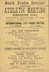 Advert for a Meeting of the South London Harriers